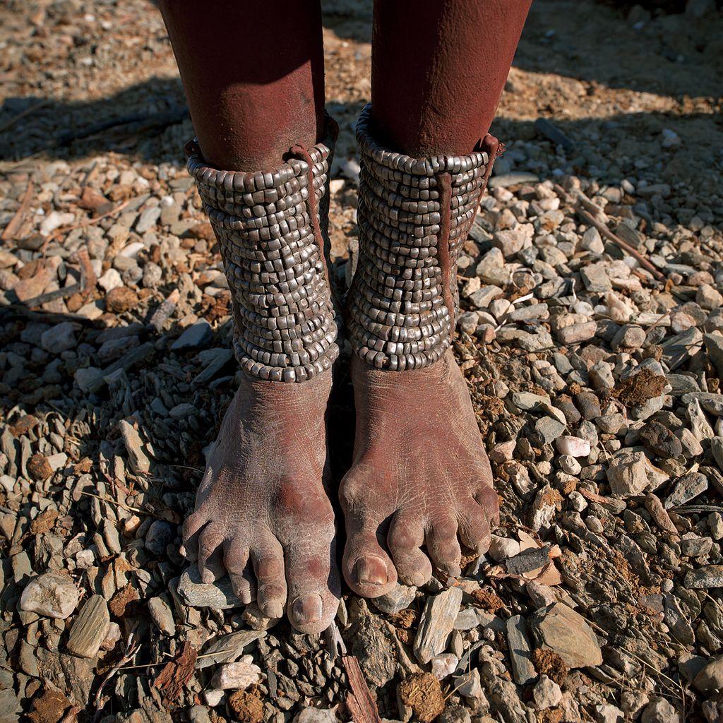 Himba Tribe Woman Feet Decoration Angola Anklets Tribal