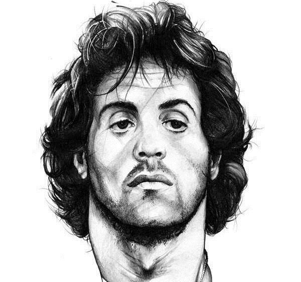 Sylvester Stallone Pencil Drawings Portrait