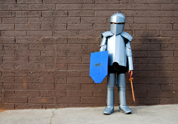 Image result for paper knight costume