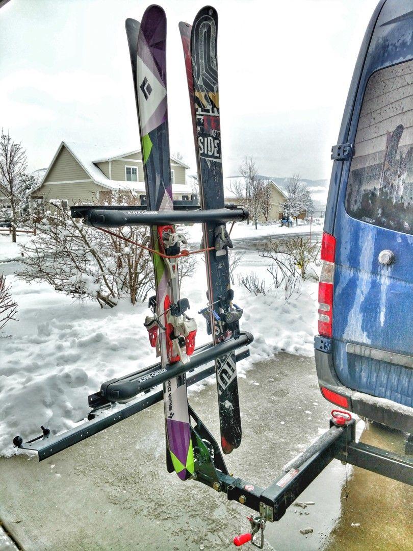 skiing hitch rack ski rack