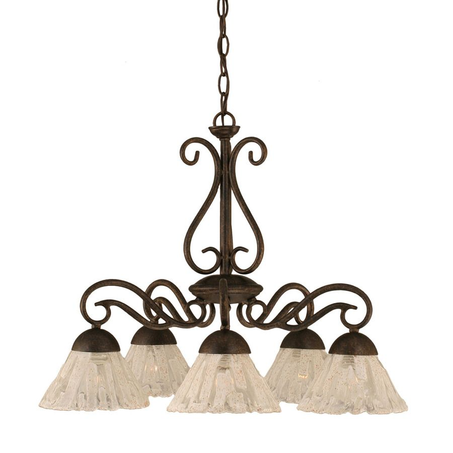 Shop Divina 5 Light Bronze Chandelier At Lowes Com Bronze