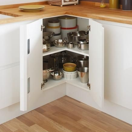 Maximise Your Kitchen Storage Space With The Corner Base Shelf Unit.