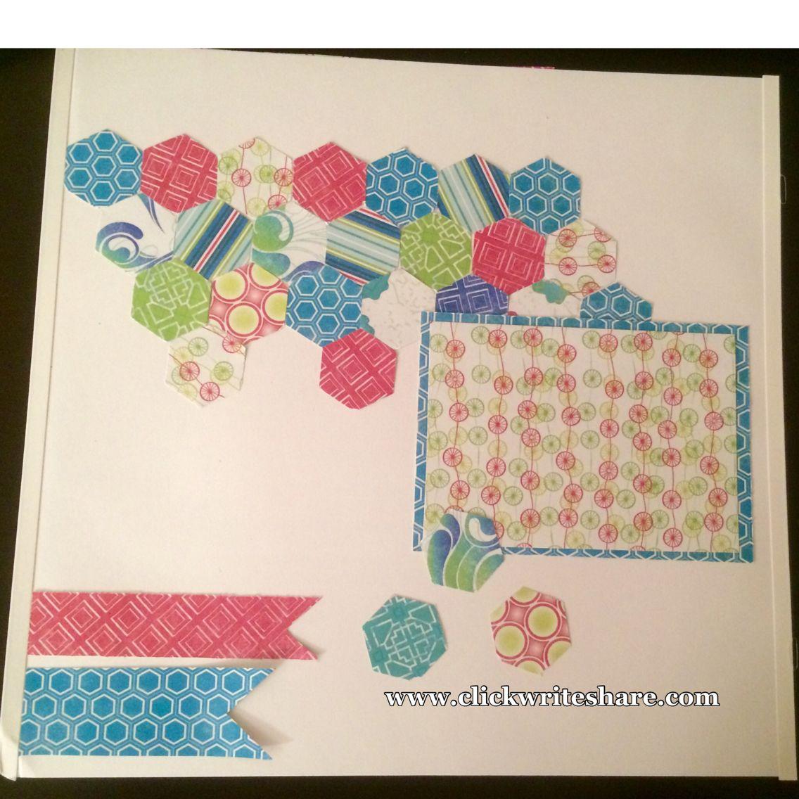 Scrapbook ideas creative memories - Creative Memories Scrapbook Ideas Items Used Hexagon Place N Punch Strut Your Stuff Paper