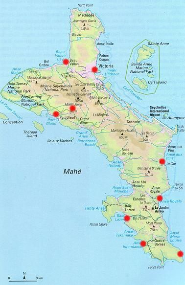 Seychellen Malediven Karte.Die Hauptinsel Mahé Malediven Seychellen Seychellen Mahe Und Reisen