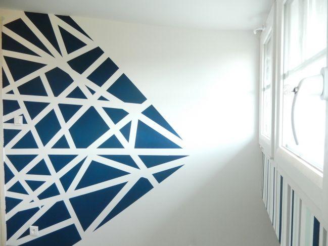 DIY 3 idées pour créer un mur graphique | Peinture interieur maison, Deco peinture salon et Deco ...