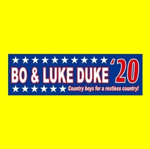 Vinyl bumper sticker that is a unique and attention grabbing a uto accessory to say the least and perfect for the passionate dukes of hazzard enthusiast