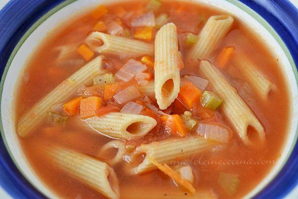 Sopa de Verduras con Pasta | Madeleine Cocina