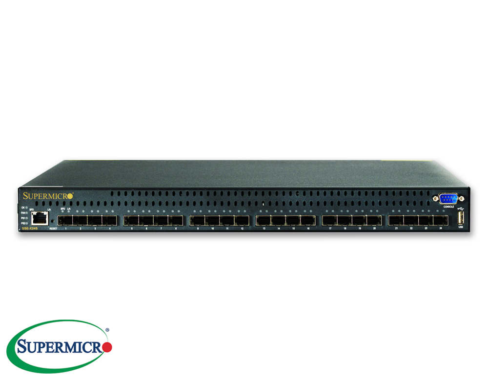 Supermicro Sse X24s 24x 10gbe Ethernet Switch Networking Switch Router