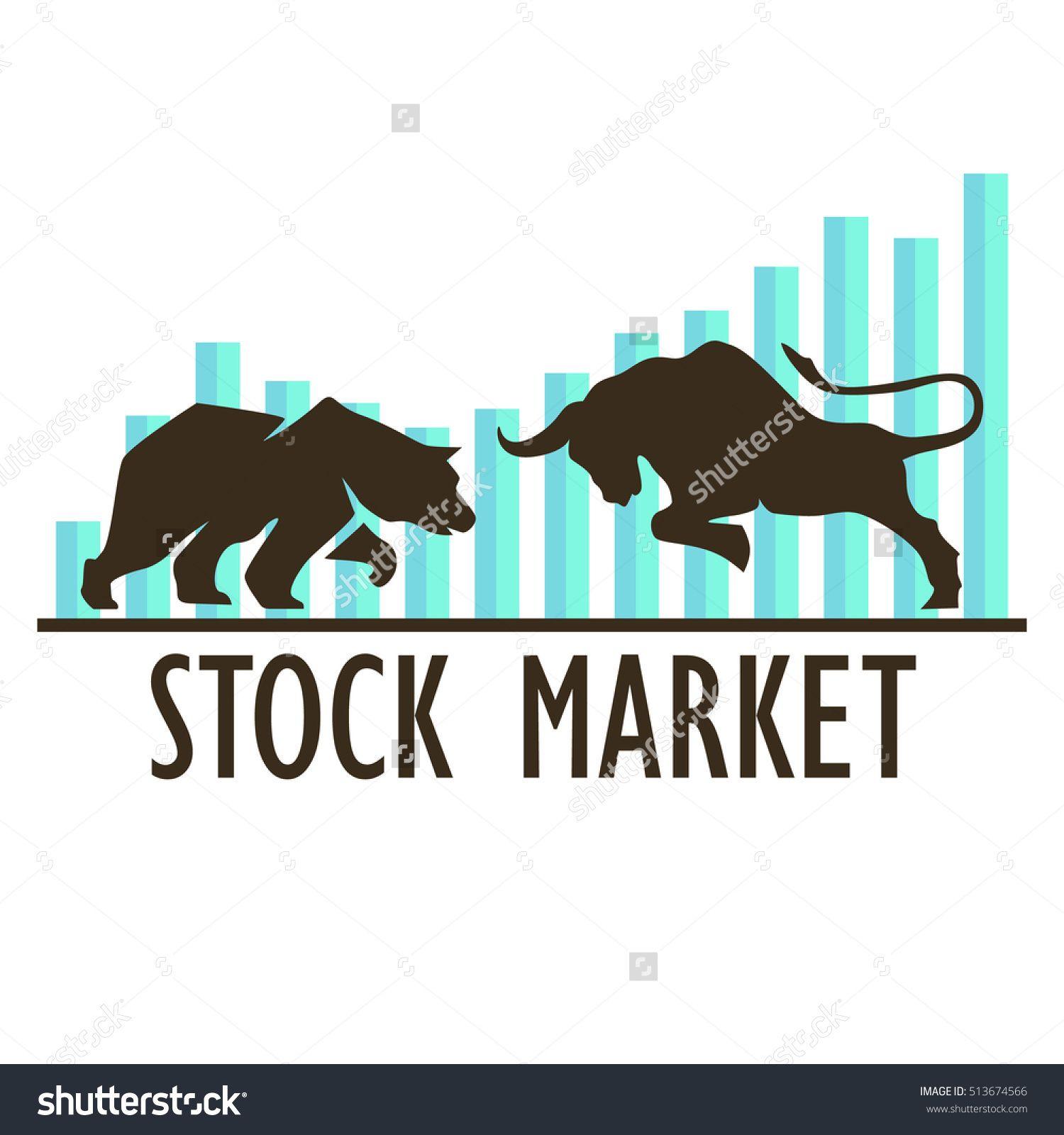 Stock Vector Bullish And Bearish Symbols On Stock Market Vector