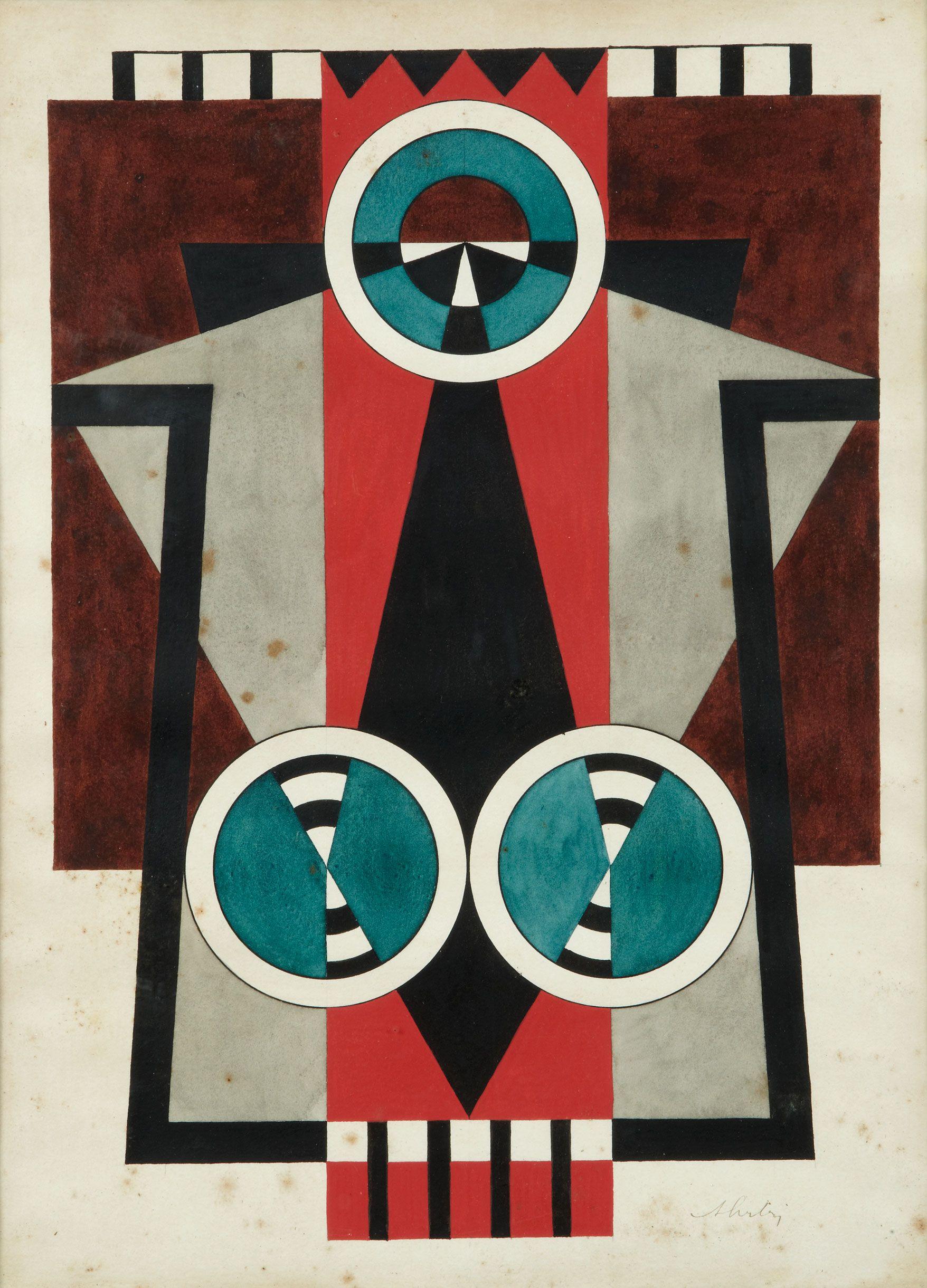Auguste HERBIN (1882-1960) Composition géométrique Encre et aquarelle sur papier Sold 8 200€ with Artprecium #auction#artprecium