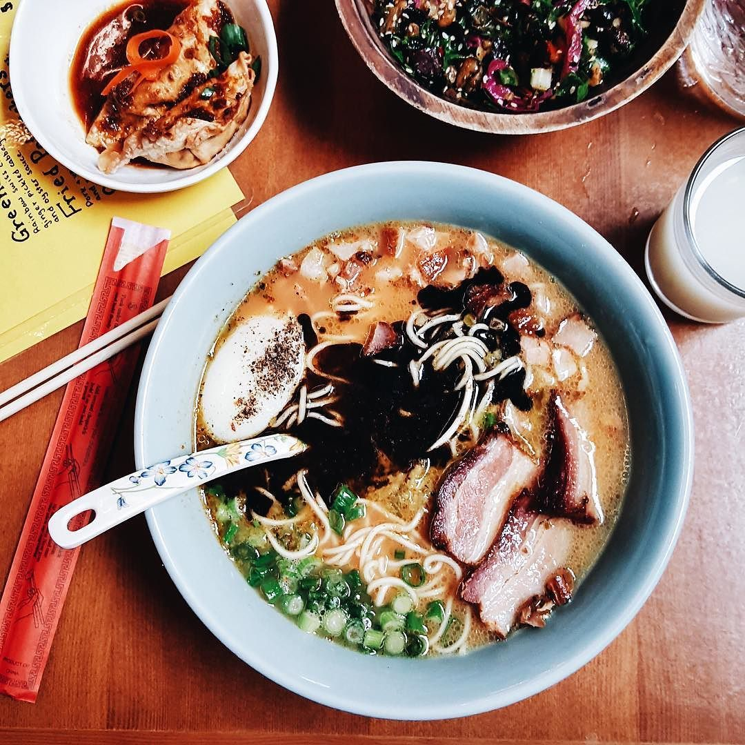 Portland is grey and chilly at times for a couple of visiting Texans. A nice bowl of @boxerramen hit the spot perfectly. #thymetraveling @downtownpdx by thymeandtemp