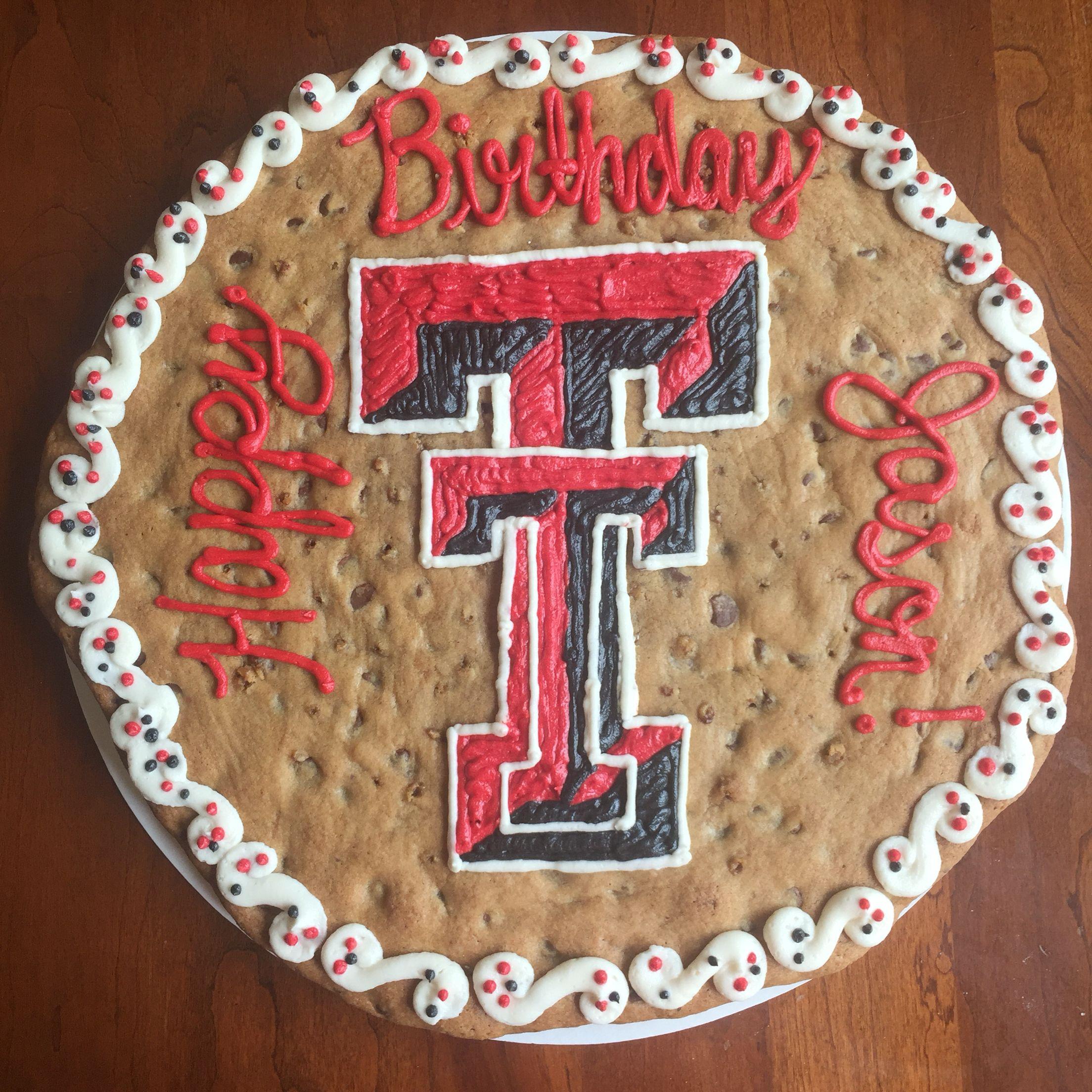 Texas Tech cookie cake!