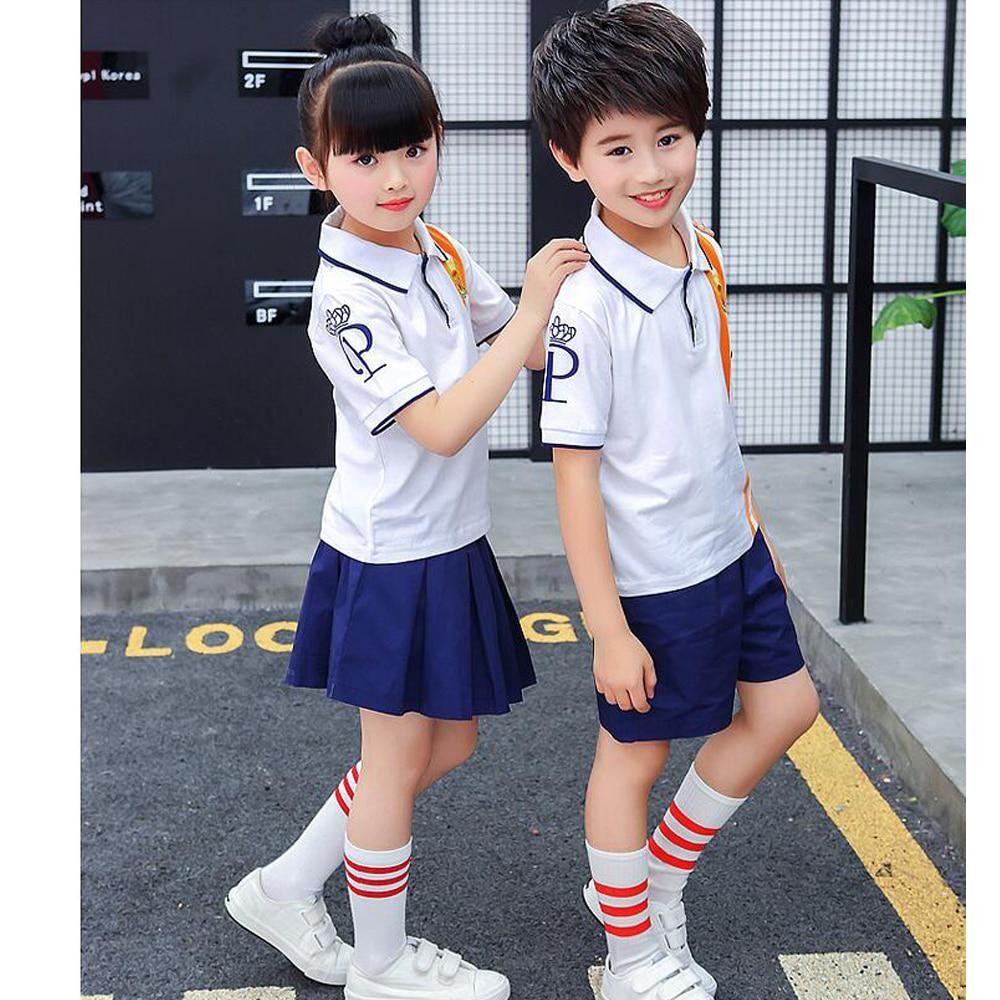 29ece88fe04 Summer Outfits · Children Japanese Korean School Uniform Girl Boys Navy  Style Shirt Tops Skirt Shorts Tie Kids Student