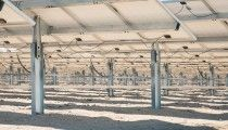 Lone Valley Solar Park equipped with Exosun's Exotrack HZ  solar trackers.  Installed power: 30 MW; © EPD Renewables