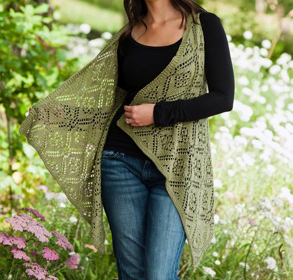 Rose Trellis Lace Vest Knitting Kit