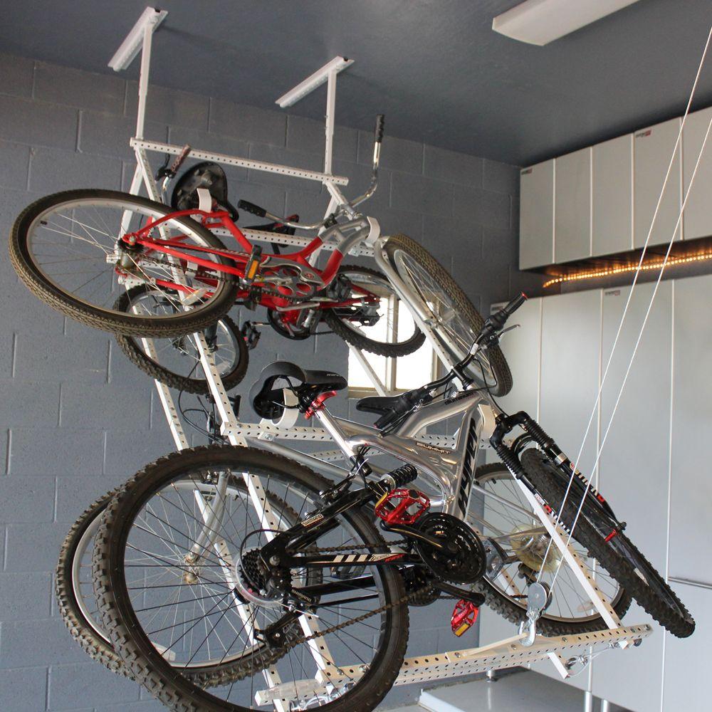 Motorized Horizontal Quad Bike Lift White 399 00 Garage
