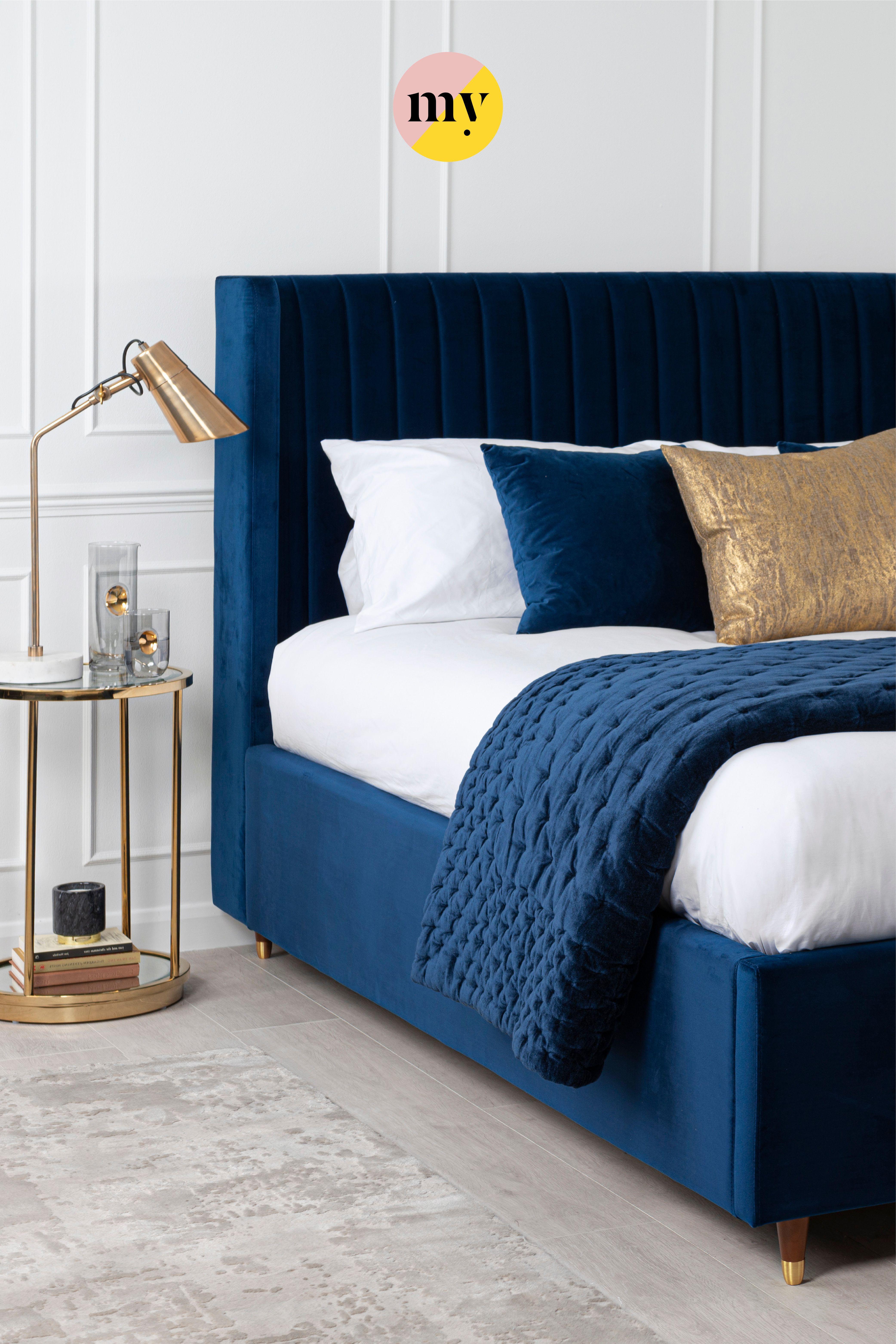 baxter storage bed royal blue bedroom decor furniture design ikea grey futon