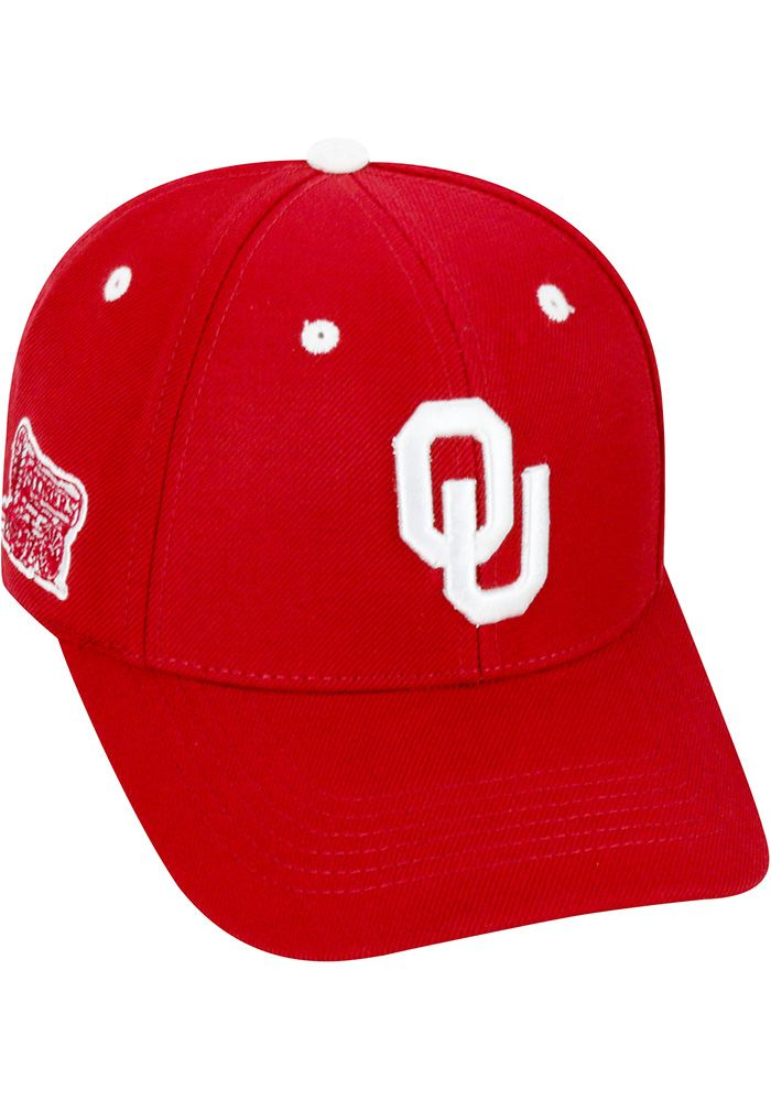 premium selection 80236 0e9d6 Top of the World Oklahoma Sooners Mens Crimson Triple Threat Adjustable Hat,  Crimson, POLYESTER, Size ADJ
