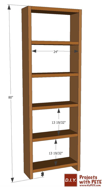 Diy Simple Bookshelf Plans Bookcase Diy Simple Bookshelf