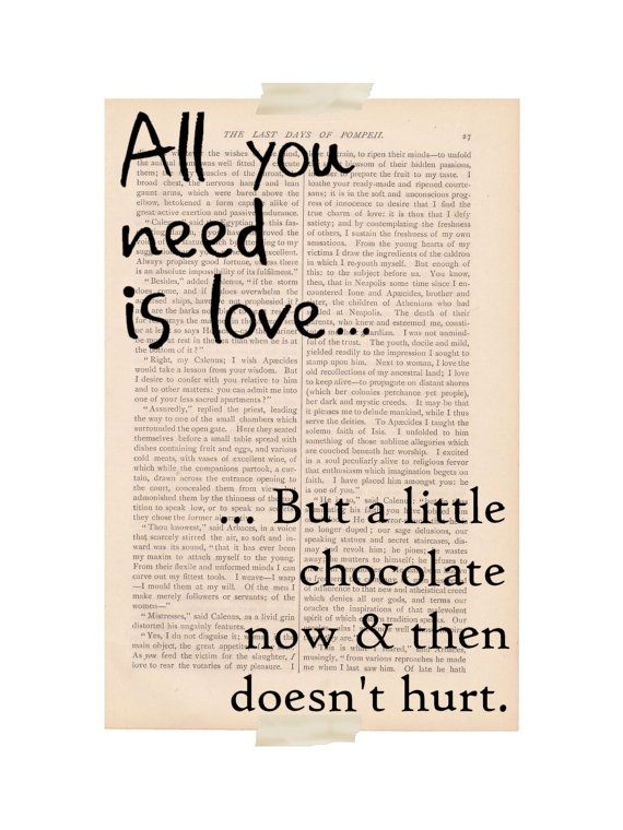 Funny Love Quote Art Print All You Need Is Love