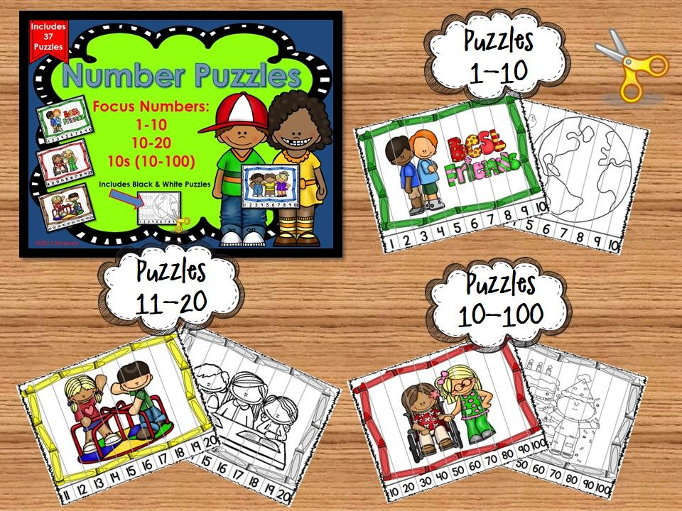 Number Puzzles (Focus Numbers110, 1120, By 10s to 100