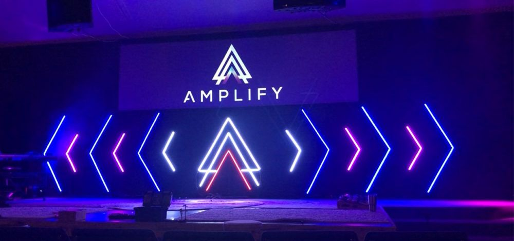 Led Logo Lines Church Stage Design Ideas Backdrops Church Stage