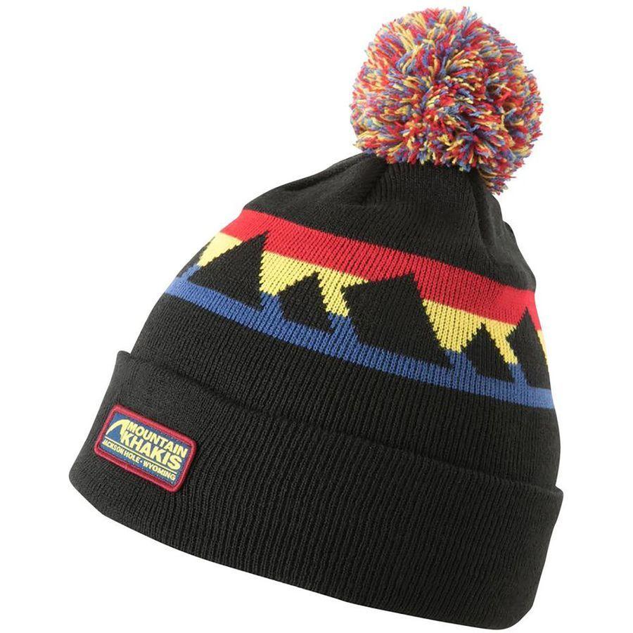 e7807e05 Mountain Khakis - Teton Sunset Pom Beanie - Black Mens Skis, Khakis, Black  Hats
