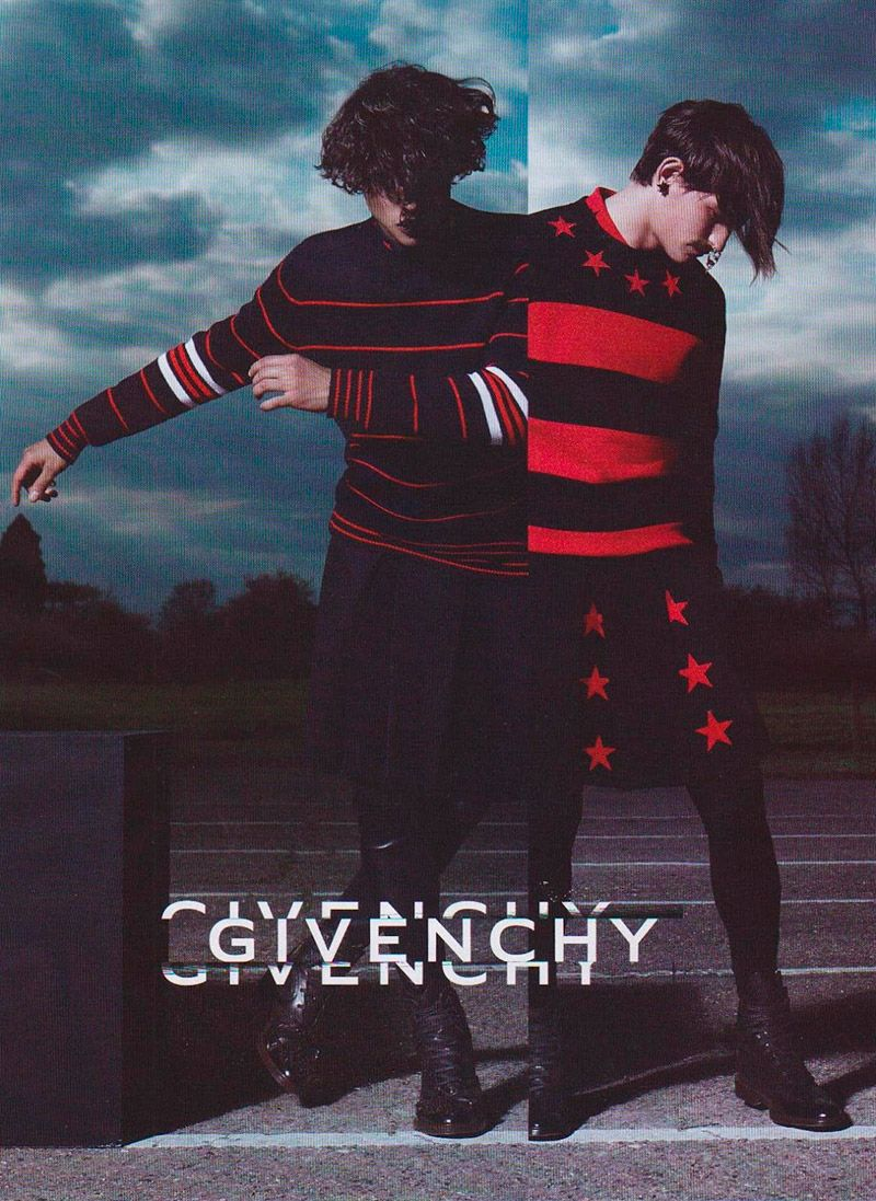 """Givenchy's Creative Director Riccardo Tisci taps Jarrod Scott, Rodrigo Braga and Simone Nobili for the french house's latest campaign. """"The Givenchy gang"""" was shot by Mert Alas and Marcus Piggott and styled by Carine Roitfeld."""