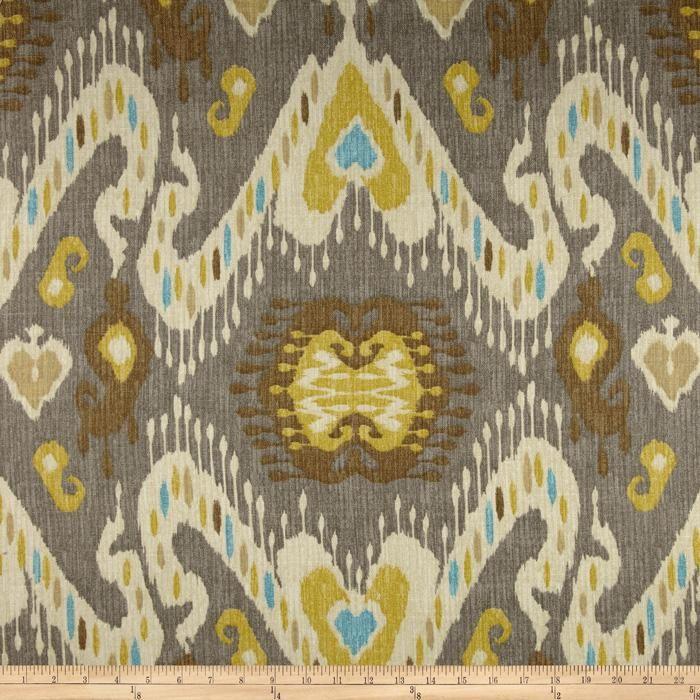 Ikat Home Decor Fabric: Waverly Enlightened Ikat Pumice