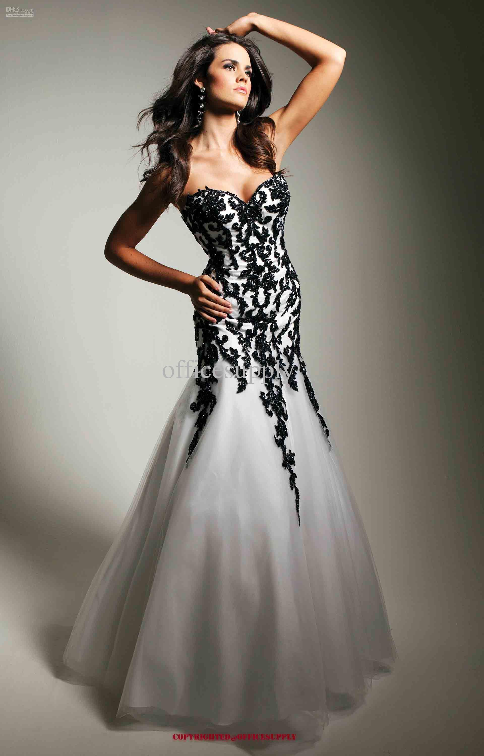 Exclusive Black and White Formal Dresses : Beautifull Design Of ...