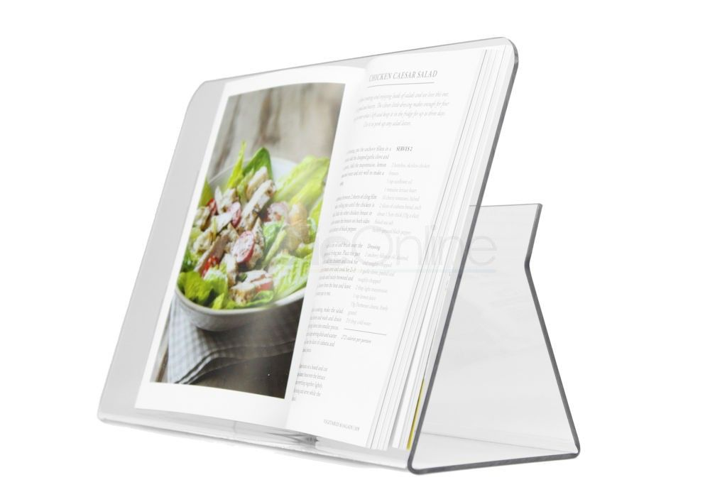 Recipe Splash Guard front Tablet Cookbook Stand Clear Cook Book