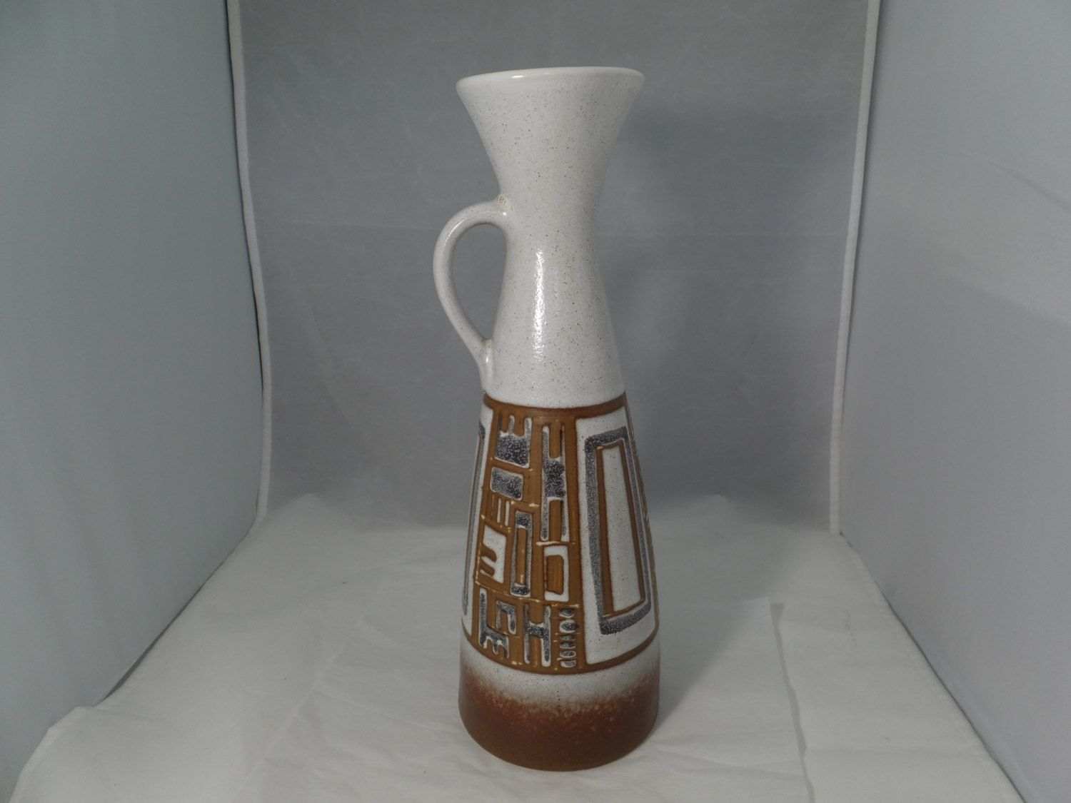 Vintage Lapid Art Pottery - 1960s Mid Century Pottery Pitcher, Israel Pottery, Retro Pottery Ewer, Signed Collectible, Original Label by Duckwells on Etsy