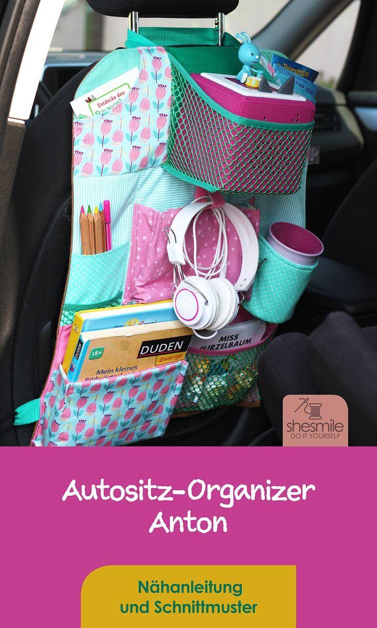 Organisateur de siège auto Anton (instructions de couture et patron)   – Nähen: Accessoires & Deko