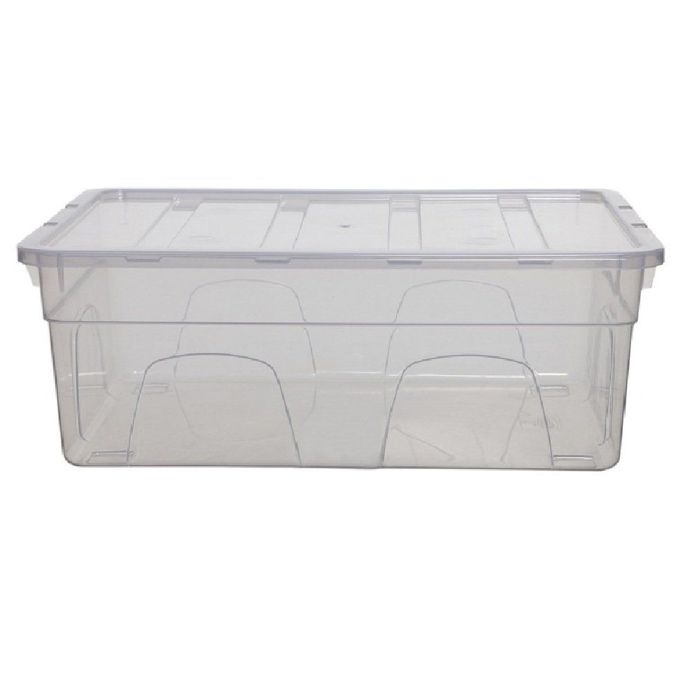 Buy 9lt Spacemaster Whitefurze Shallow Plastic Storage Box With Lid Plastic Box Storage Storage Boxes With Lids Plastic Storage