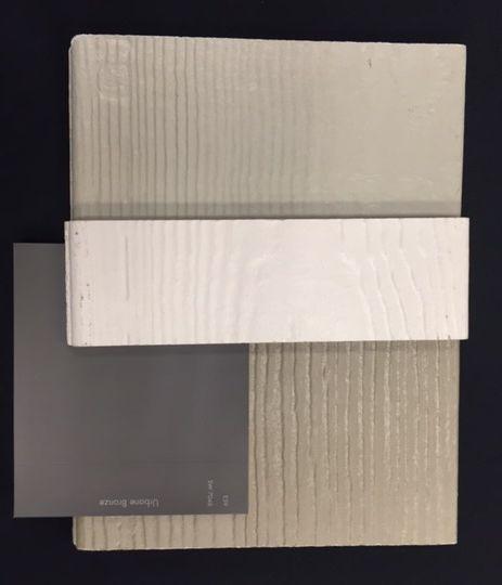 Exterior Siding Colors: top- main siding color, middle- trim, bottom- accent siding colors