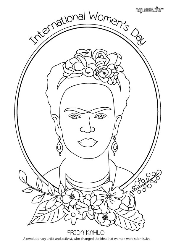 Inspired By Alphamom We Ve Created A Series Of Colouring Sheets Based On Historic Women Artists Acti Kahlo Paintings Coloring Pages International Womens Day