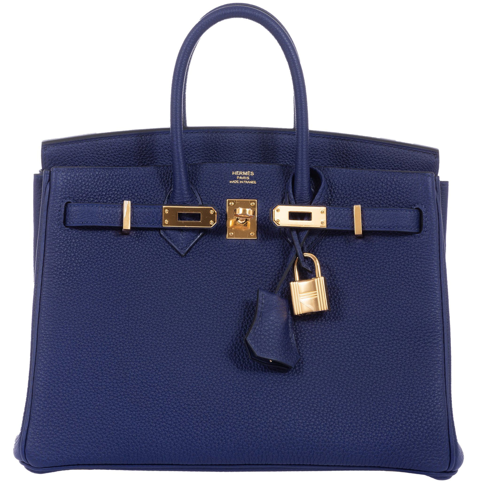 341e445ae098f Hermes Birkin 25 Blue Encre (Ink) Togo Gold Hardware in 2019