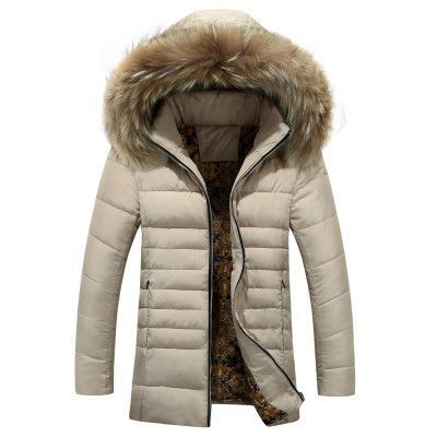 New Arrivals Winter Men S Down Jacket Fur Collar Windproof Parka Warm Jacket For Men Hooded Chalecos