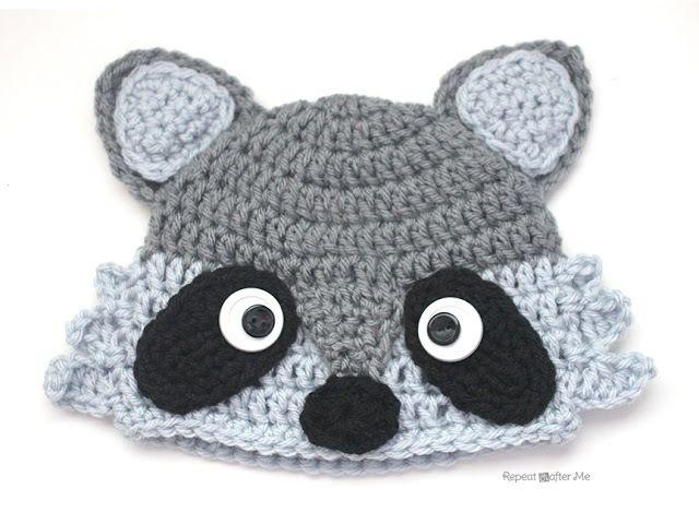 Crochet Raccoon Hat   Crochet Projects   Crochet, Crochet hats, Crochet  patterns 4fde92bb850
