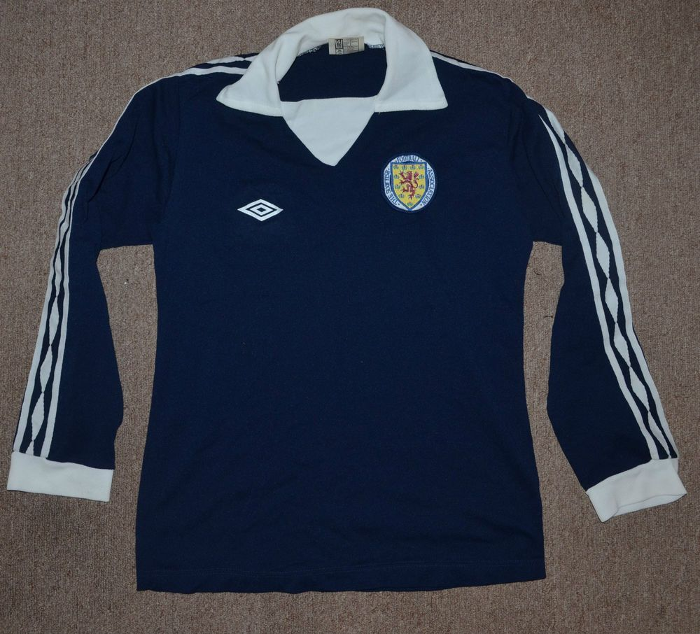 3e8860f072 RARE SCOTLAND 1978/1982 HOME FOOTBALL SHIRT JERSEY UMBRO VINTAGE LONG SLEEVE