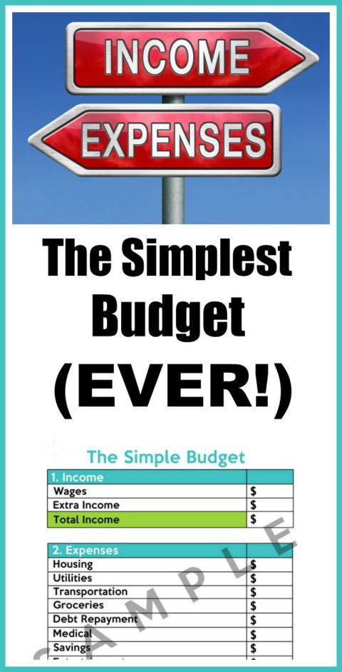 Budgeting doesn't have to be complicated. Here's how to make the simplest budget ever! Free Simple Budget Worksheet is included.