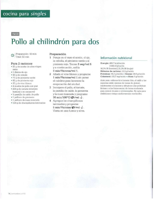 Revista thermomix nº61 caliddo otoño por argent