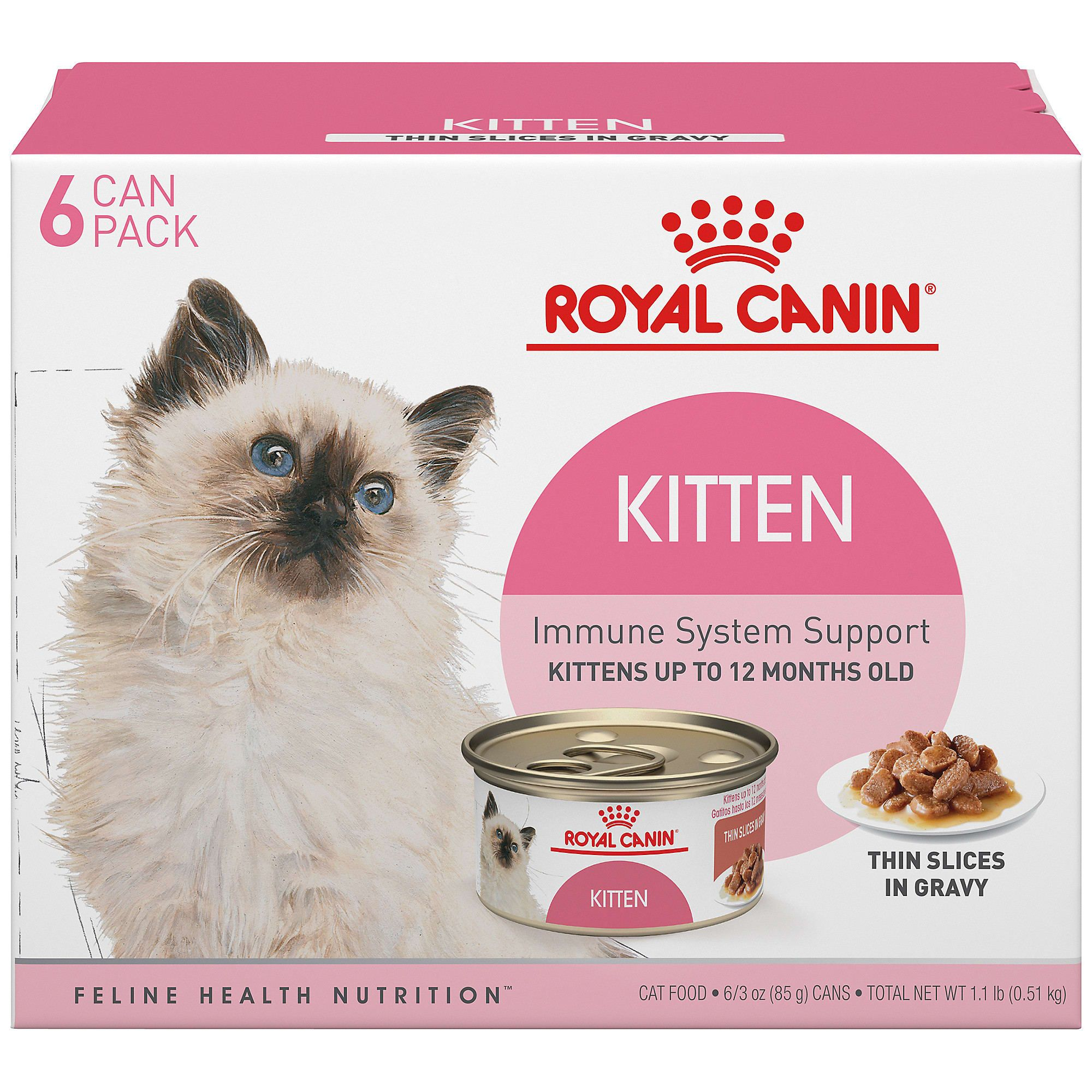 Royal Canin Feline Health Nutrition Thin Slices In Gravy Variety Pack Wet Kitten Food 3 Oz Count Of 6 Petco In 2020 Feline Health Health And Nutrition Kitten Food