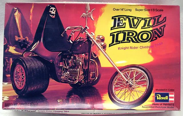 1972 Evil Iron Trike by Revell  | Model Box Art and Ads