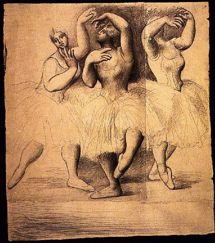 Three Dancers 1919 by Pablo Picasso