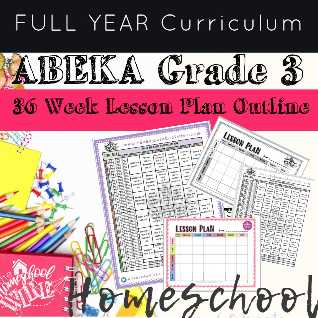 Abeka Third Grade Homeschool Curriculum Lesson Plan Entire Year Year Curriculum Lesson Plans Third Grade Homeschool Lesson Plan Outline [ 1080 x 1080 Pixel ]