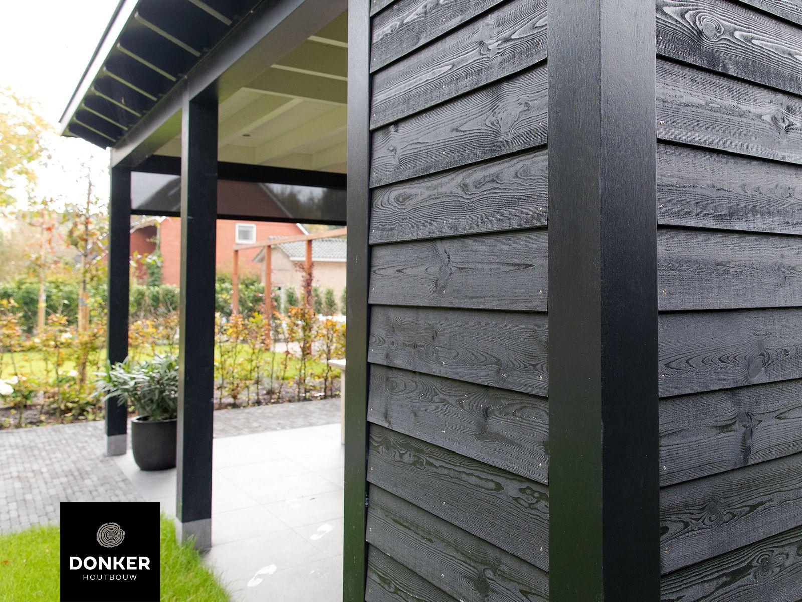 Ongekend Donker Houtbouw // Landelijke veranda / Zwart potdeksel GC-48