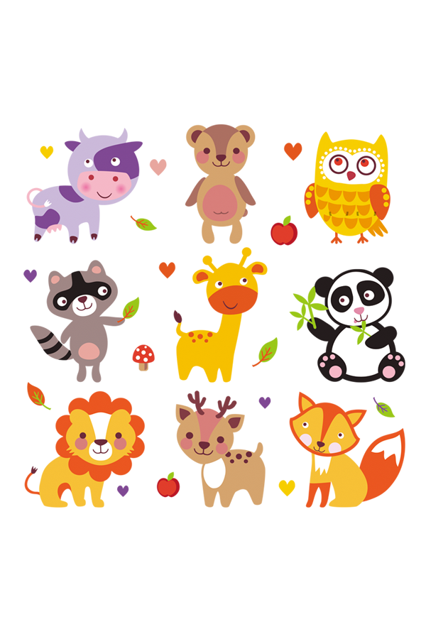b782e7248226 Set Of Animals Stickers For Clothes New Design Heat Transfer Diy ...