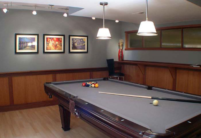 A Pool Table To Completes This Sophisticated Man Cave Man Cave