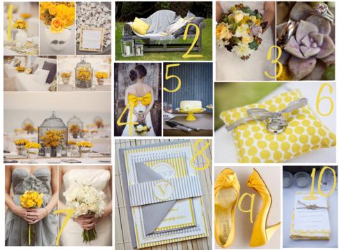 wedding decor yellow and grey - Google Search | Wedding ideas ...